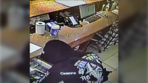 Just after midnight on Sept. 13, a male with what was believed to be a firearm entered Lac La Biche's Parkland 2 Motel and stole cigarettes and cash. (Photo provided by RCMP.)