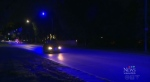 Manitoba Hydro said it's working to fix about 30 street lights emitting a purple hue.