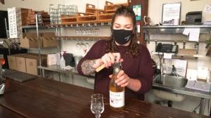 Taylor Reynolds at Sea Cider Farm and Ciderhouse in Saanichton, B.C. (CTV  News)