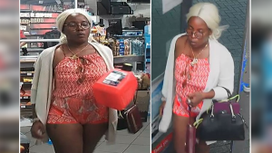 """Ottawa police are asking for the public's help identifying this woman, who is considered a """"person of interest"""" in an arson investigation. (Photos submitted by the Ottawa Police Service)"""
