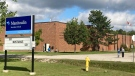 Manitoulin Secondary School in M'Chigeeng. Sept. 15/21 (Mike McDonald/CTV Northern Ontario)