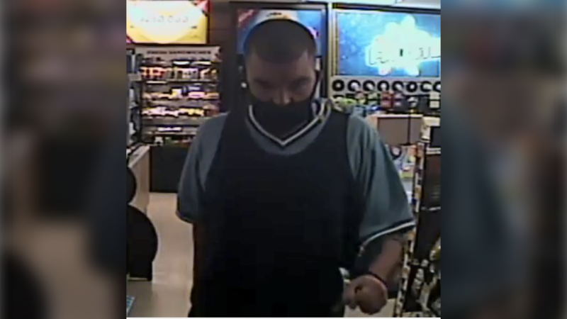 Windsor police released a surveillance photo of a suspect sought in a Seminole Street robbery investigation. (Courtesy Windsor Police Service)