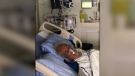 Maria Troughton's 84-year-old father in hospital at the U of A. (Credit: Maria Troughton)