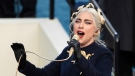 In this Jan. 20, 2021, file photo, Lady Gaga sings the national anthem during U.S. President-elect Joe Biden's inauguration at the U.S. Capitol in Washington. (AP Photo/Saul Loeb, Pool)