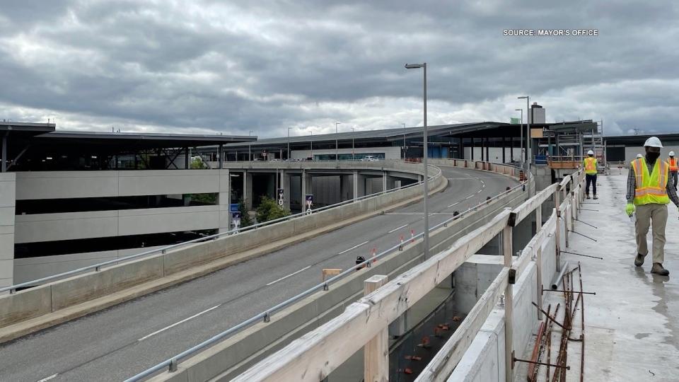 Mayor Jim Watson shared a photo of Light Rail Transit construction at the Ottawa Airport.