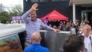 Hundreds of supporters attended a Maxime Bernier rally in Chatham, Ont. on Wednesday, Sept. 15, 2021. (Sijia Liu/CTV Windsor)