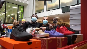 McGill student delivers sneakers to high school