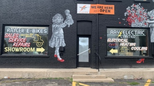 Ray's Electric Limited in Cambridge was robbed twice in one month. (Jessica Smith/CTV Kitchener)