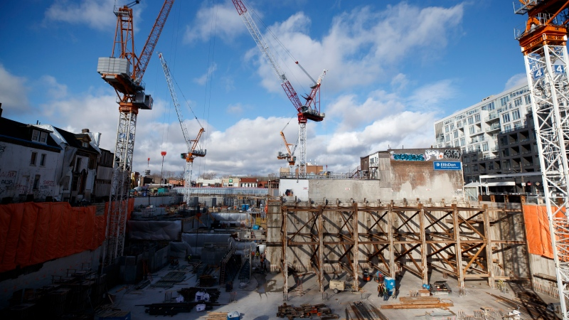 A construction site that will soon house residential housing in Toronto is seen in this, Thursday, Jan. 16, 2020 photo. THE CANADIAN PRESS/Cole Burston