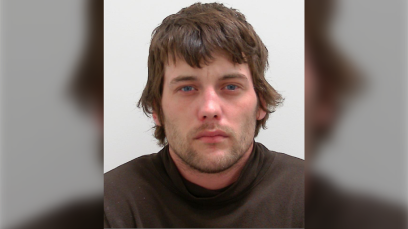 Calgarian Jesse Donald Hannon, 32,  who was wanted on a Canada-wide warrant was located and arrested in Peterborough, Ontario. (Supplied)