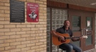 Brett Kingswell performs his song, 'Like a Fox' in London, Ont., Sept 15. 2021. (Jaden Lee-Lincoln / CTV News)