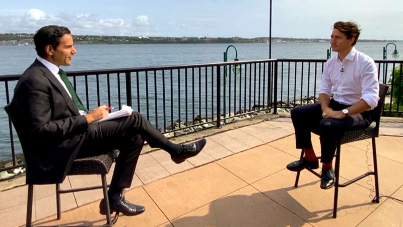 CTV News National Affairs Correspondent Omar Sachedina speaks with Liberal Leader Justin Trudeau for an interview airing Wednesday, Sept. 15, 2021.