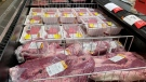 Meat products are displayed for sale at a grocery store in Roslyn, Pa., Tuesday, June 15, 2021. (AP Photo/Matt Rourke)