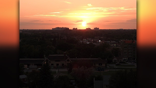 Sunset looking over Portage. Photo by Diane Watts.