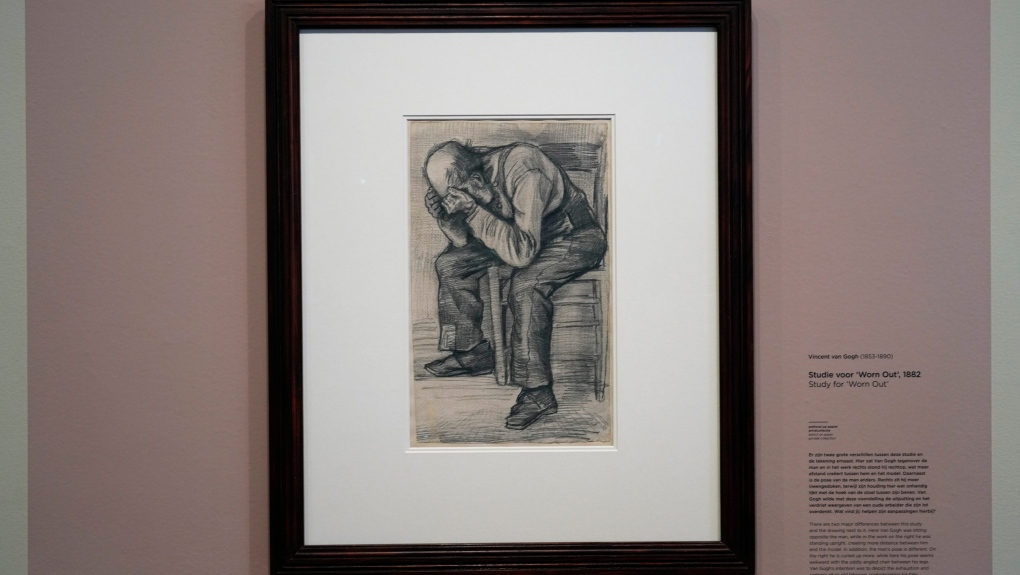 'Worn Out' drawing by Vincent van Gogh