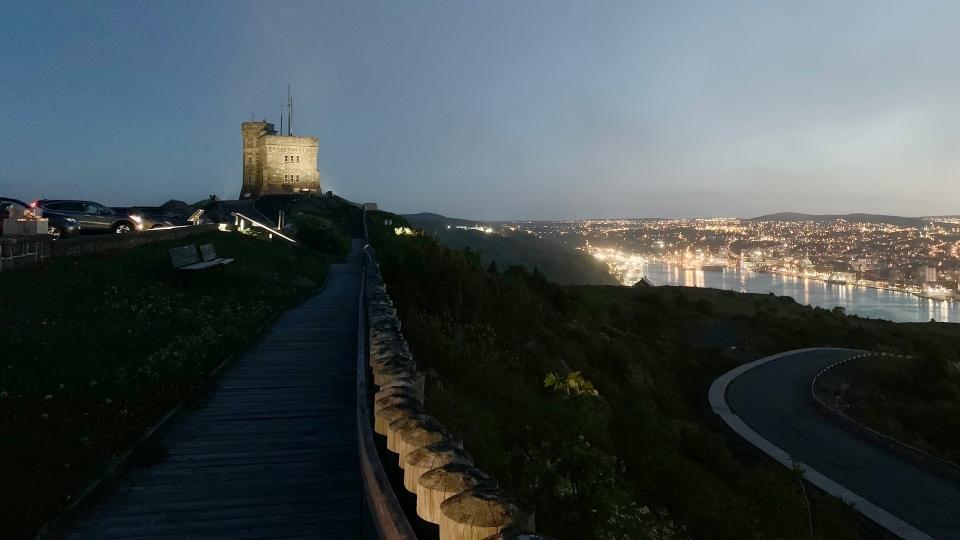 Cabot Tower at night