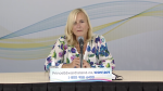 """""""I am concerned about this outbreak and the impact on children and families,"""" said Dr. Heather Morrison, P.E.I. chief medical officer of health during a news update on Sept. 16, 2021."""