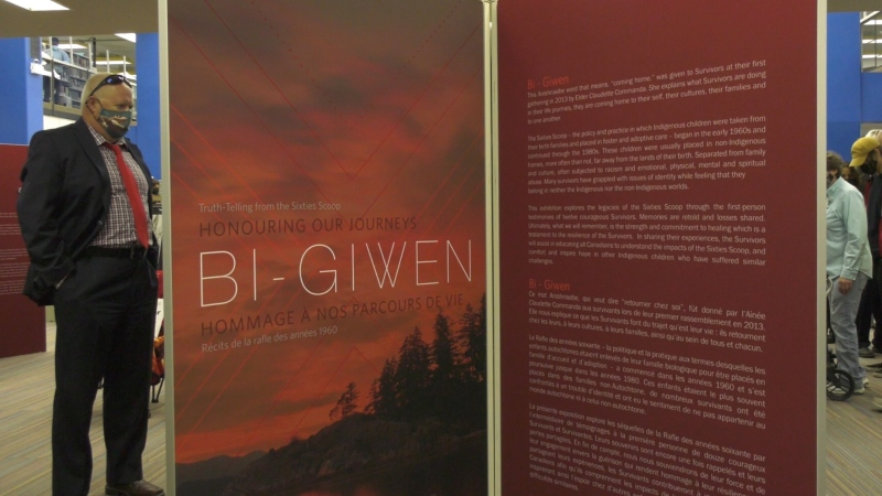 """The Bi-Giwen exhibit is advertised as the """"first of its kind"""" by The Legacy of Hope Foundation. (David Prisciak/CTV News)"""