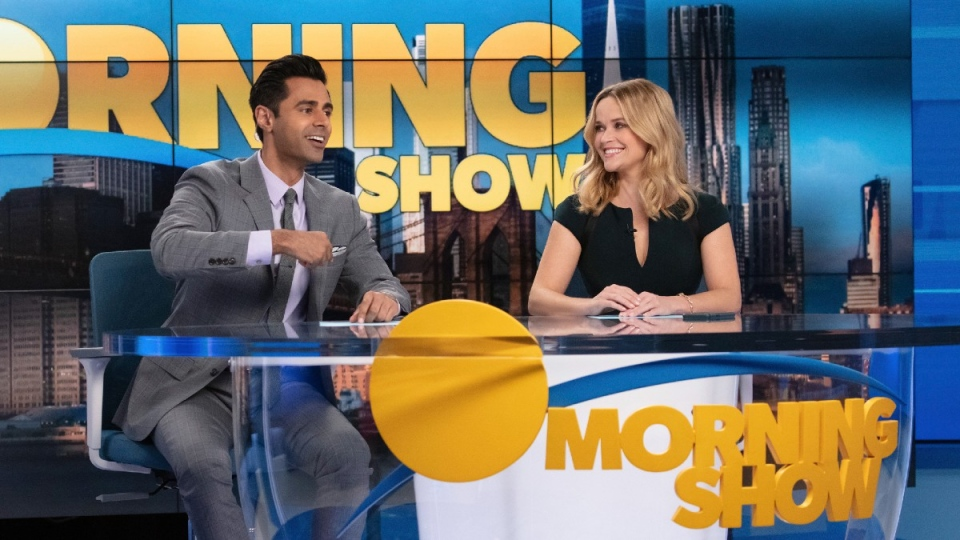 Minhaj and Witherspoon in  'The Morning Show'