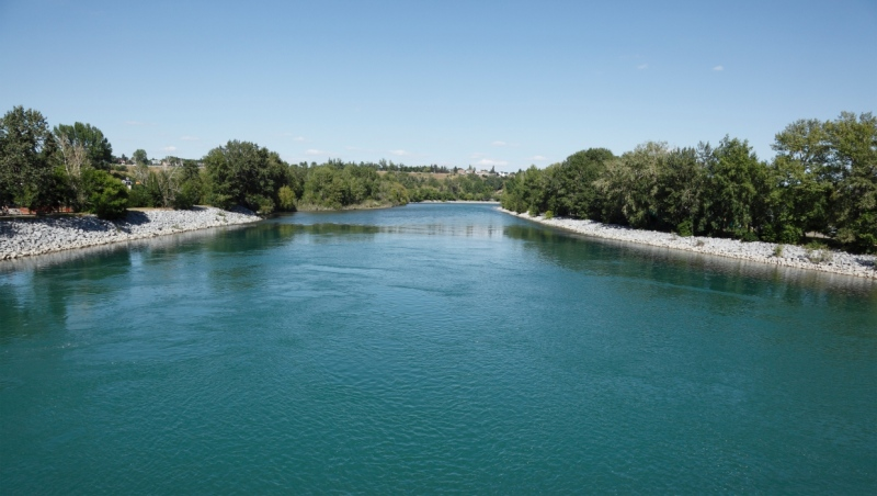 The Bow River in Calgary. (Getty Images)