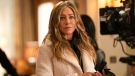 Jennifer Aniston in a scene from 'The Morning Show.' (Apple TV+ via AP)
