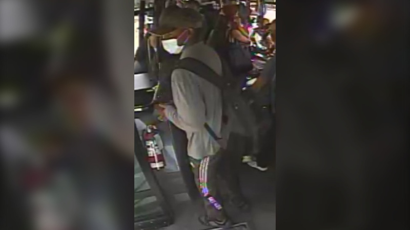 Saanich police are searching for this man who is believed to be connected to a sexual assault aboard a public bus: (Saanich Police)