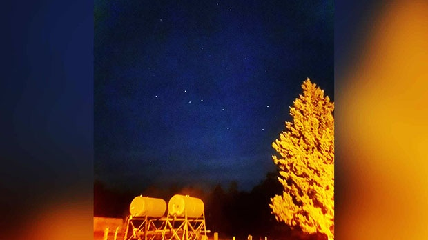 A beautiful clear night and the Big Dipper in Onanole. Photo by Laura Bevan.