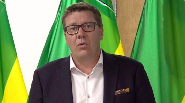 Sask. Premier Scott Moe speaks at a news conference on Sept. 16, 2021