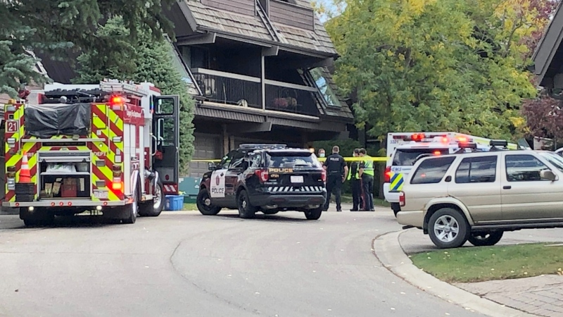 A man was killed in northwest Calgary when the truck he was working on fell on top of him.
