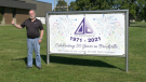 Douglas Barwick plant manager John Jonkman celebrated 50 years with the Brockville company on Thursday. (Nate Vandermeer/CTV News Ottawa)