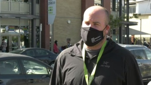 Our Place director of services, Jordan Cooper, is pictured: Sept. 16, 2021 (CTV News)