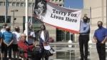 Terry Fox flag raising at Barrie City Hall
