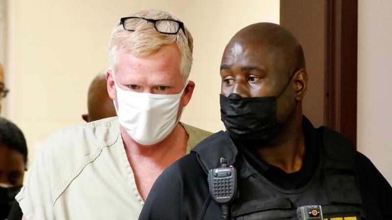 Alex Murdaugh walks into his bond hearing, Sept. 16, 2021, in Varnville, S.C. (AP Photo/Mic Smith)