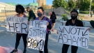 The Take Back the Night march returned to Kitchener on Friday. (Colton Wiens/CTV Kitchener)