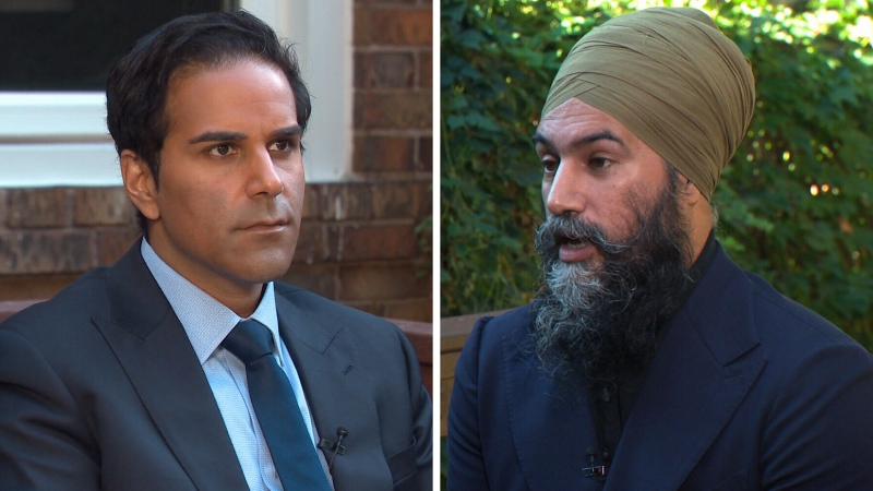 CTV News National Affairs Correspondent Omar Sachedina speaks with NDP Leader Jagmeet Singh for an interview airing Thursday, Sept. 16, 2021.