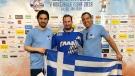 Stefanos Govas, centre, in 2019 (Facebook/Ball Hockey Quebec)