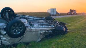 Driver injured in Lambton County crash