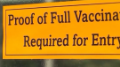 proof of vaccination sign