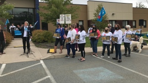 Nova Scotia nurses are joining their unionized counterparts from across the country Friday for a national day of action to bring attention to the labour shortages in the country's health system. (Photo Jim Kvammen / CTV Atlantic)
