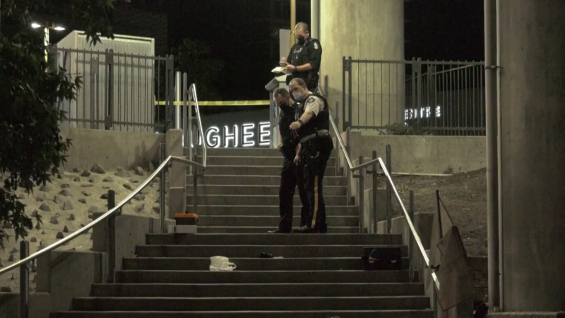 A stabbing at Lougheed SkyTrain Station on Sept. 16, 2021, is under investigation.