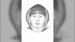 Thompson RCMP release sketch of assault suspect (supplied)