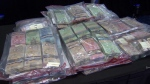 Cash seized by police during a 2018 investigation. (File photo)