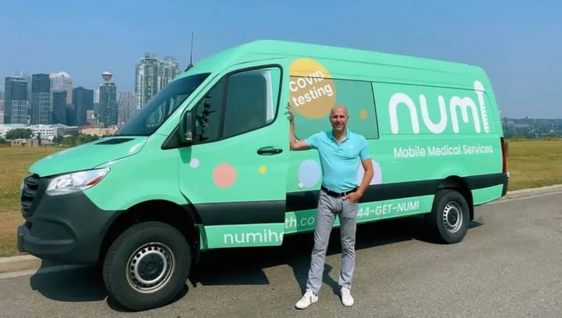 A Numi mobile medical testing vehicle is shown. (numihealth.com)
