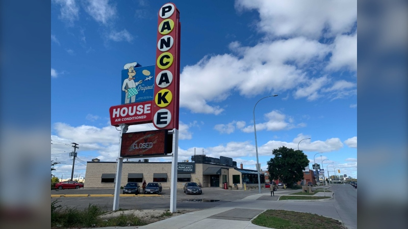 The Original Pancake House, which opened in 1958 on Pembina Highway, is now closed. (CTV News Photo Jamie Dowsett)