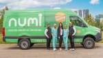 A Numi mobile medical testing vehicle is shown. (Numi)