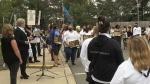 Nurses stand in solidarity