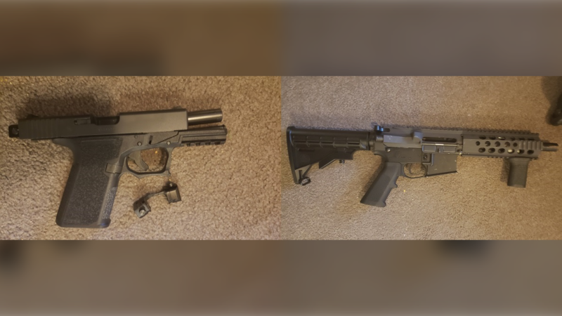 Police in Surrey have seized two firearms and hundreds of grams of fentanyl from a basement suite in the city's Bear Creek neighbourhood that property managers thought was vacant. (Surrey RCMP)