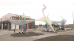 Windward Light was designed and installed by Heavy Industries. It was privately funded. (CTV Calgary)