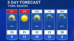 Five-day forecast for CTV Barrie: Sept. 17