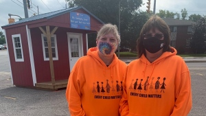 Cindy Neily and Sherry Baker, fundraisers who have used the little red shed in Brantford. (CTV Kitchener)